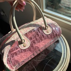 ✨Christian Dior trotter clear pvc Boston bag✨
